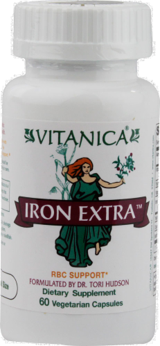 Vitanica Iron Extra RBC Support Capsules Perspective: front