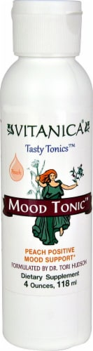 Vitanica Mood Tonic Peach Mood Support Supplement Perspective: front