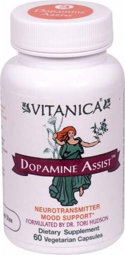 Vitanica Dopamine Assist Vegetarian Capsules Perspective: front
