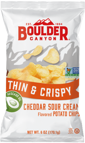 Boulder Canyon Spinach Artichoke Kettle Potato Chips Perspective: front