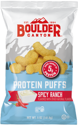 Boulder Canyon Spicy Ranch Protein Puff Snacks Perspective: front