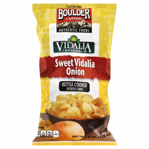 Boulder Canyon Sweet Vidalia Onion Kettle Cooked Potato Chips Perspective: front