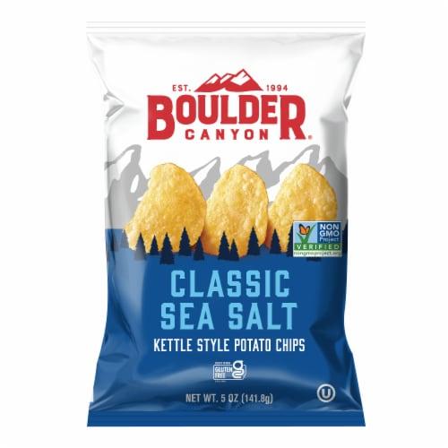 Boulder Canyon Sea Salt Kettle Chips Perspective: front