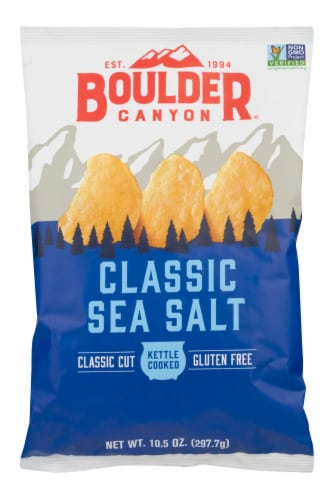Boulder Canyon Classic Sea Salt Kettle Cooked Chips Perspective: front