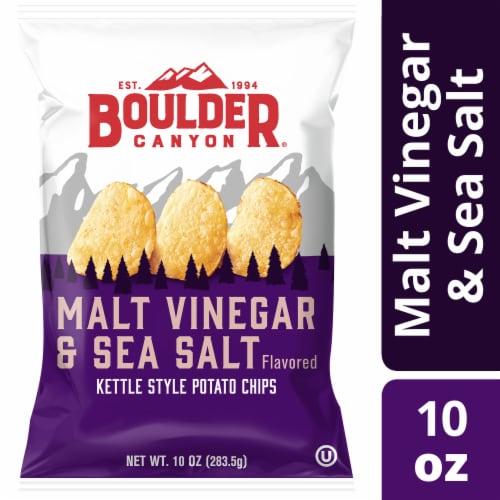 Boulder Canyon Malt Vinegar & Sea Salt Kettle Chips Perspective: front