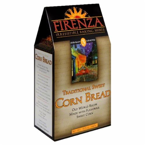 Firenza Traditional Sweet Corn Bread Mix Perspective: front
