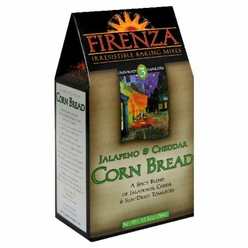 Firenza Jalapeno & Cheddar Corn Bread Mix Perspective: front