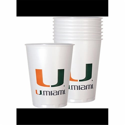 Mayflower 37623 8 Count 14 oz University of Miami Cup Perspective: front