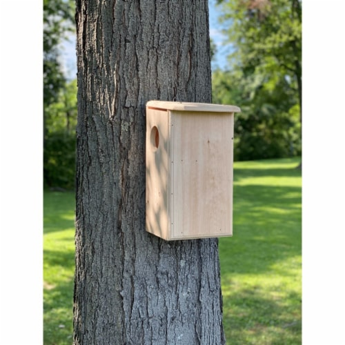 Premium Squirrel House Nesting Box for Outdoor Use, 17.75  x 9.25  x 11 Perspective: front