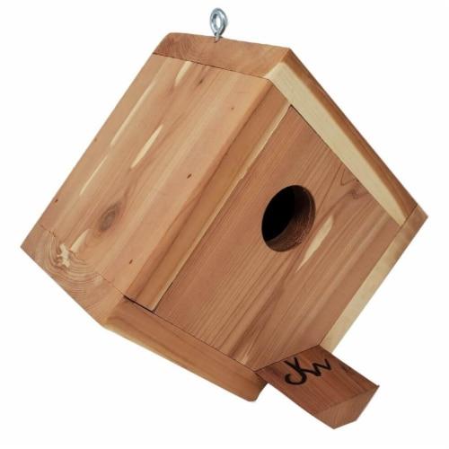 Premium Hanging Birdhouse - Attract Bluebirds, Wren, Chickadee, Finch, Swallow, More Perspective: front