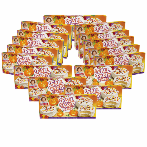 Little Debbie Fall Party Cakes, Vanilla, 16 Boxes, 80 Twin Wrapped Cakes Perspective: front