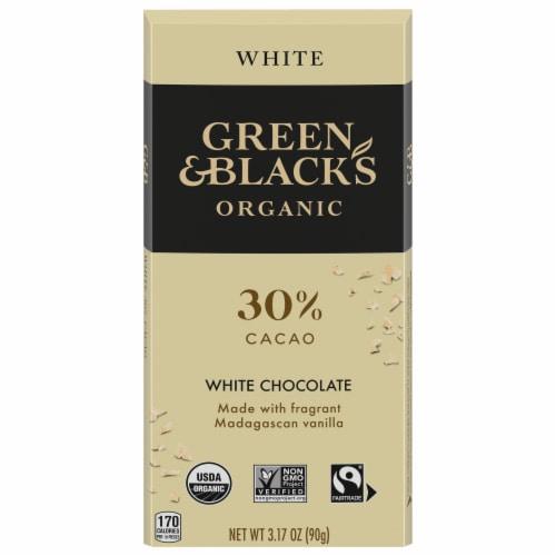 Green & Black's Organics White Chocolate Bar Perspective: front