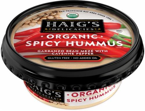 Haig's Delicacies Organic Spicy Hummus Perspective: front