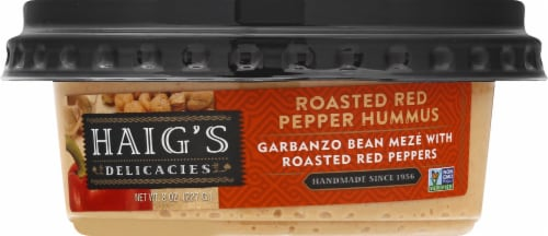 Haig's Delicacies Roasted Red Pepper Hummus Perspective: front
