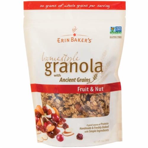 Erin Baker's Homestyle Fruit & Nut Granola Perspective: front
