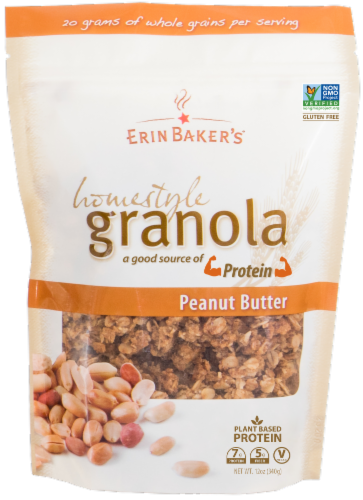 Erin Baker's Homestyle Peanut Butter Granola Perspective: front