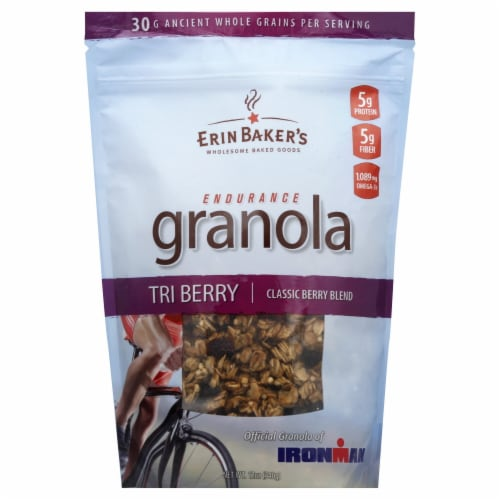Erin Baker's Endurance Granola Tri Berry Perspective: front