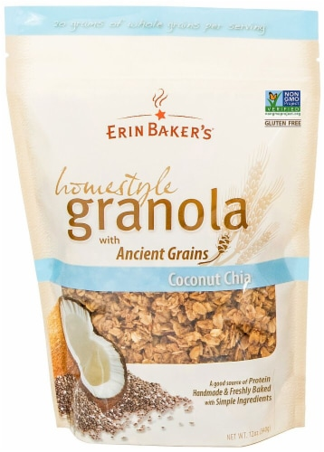 Erin Baker's  Homestlye Granola    Coconut Chia Perspective: front