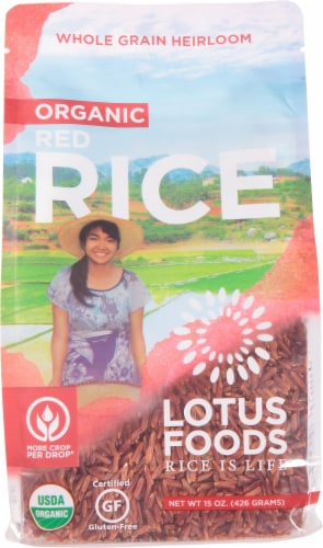Lotus Foods Bhutanese Red Rice Perspective: front