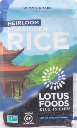 Lotus Foods Organic Forbidden Rice Perspective: front