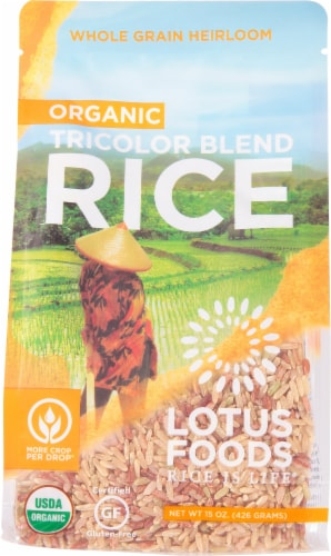 Lotus Foods Organic Volcano Rice Perspective: front