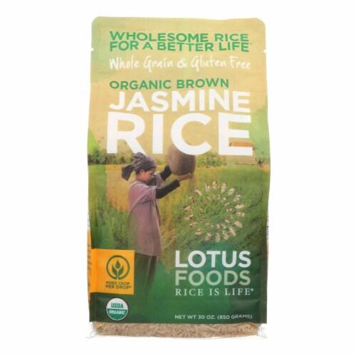 Lotus Foods Organic - Rice - Brown - Jasmine - Case of 6 - 30 oz Perspective: front