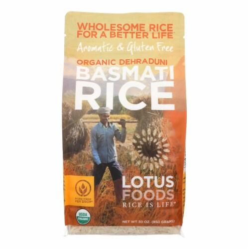 Lotus Foods Organic Rice - Basmati - Case of 6 - 30 oz Perspective: front