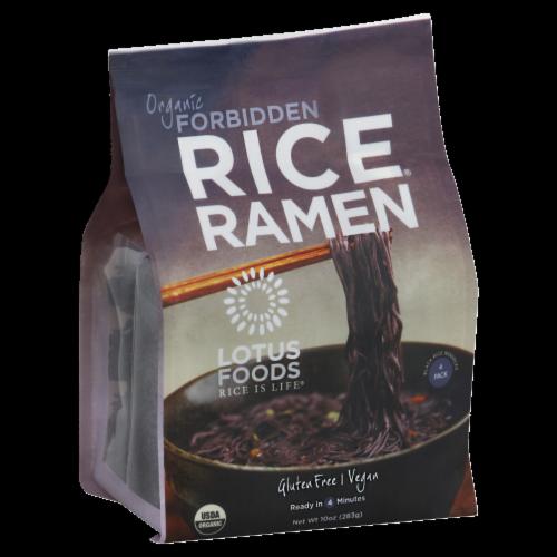Lotus Foods Organic Forbidden Black Rice Ramen Noddles Perspective: front