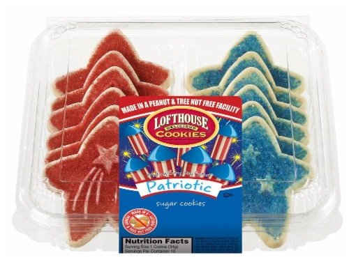 Lofthouse Patriotic Sugar Cookies 10 Count Perspective: front