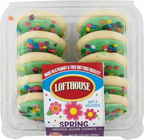 Lofthouse Spring Flowers Frosted Sugar Cookies Perspective: front