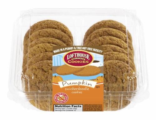 Lofthouse Pumpkin Snickerdoodle Cookies Perspective: front