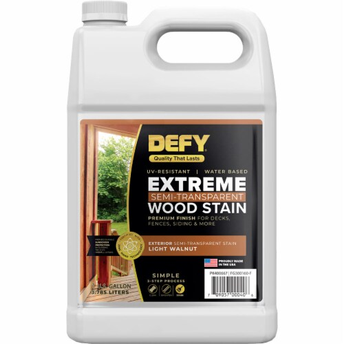 DEFY Extreme Wood Stain Light Walnut F-Style gal Perspective: front