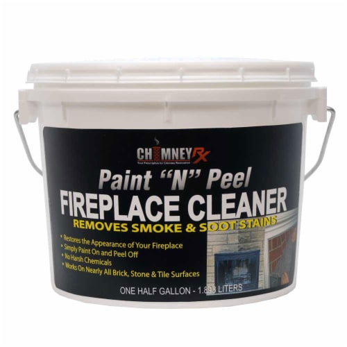 Chimney RX Paint N Peel Fireplace Cleaner 1/2 gal Perspective: front