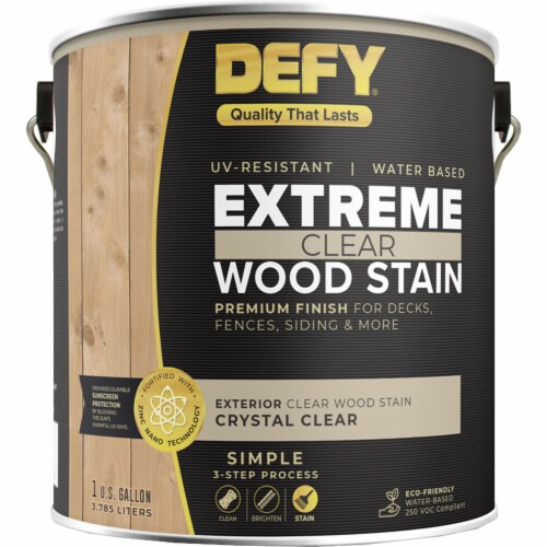 DEFY Extreme Wood Stain Crystal Clear gal Perspective: front