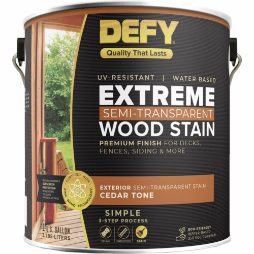 DEFY Extreme Wood Stain Cedar Tone gal Perspective: front