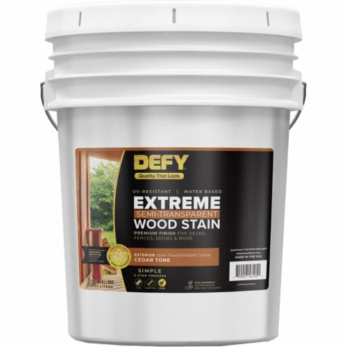 DEFY Extreme Wood Stain Cedar Tone 5gal Perspective: front