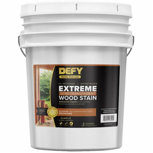DEFY Extreme Wood Stain Redwood Tone 5gal Perspective: front