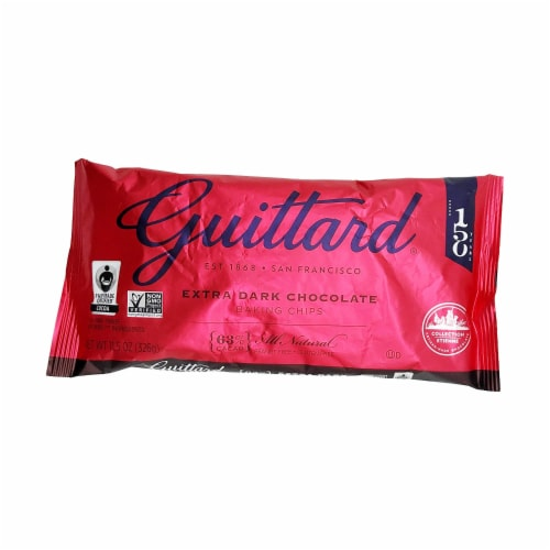 Guittard Baking Chips, 63% Extra Dark Chocolate, 11.5 oz Perspective: front