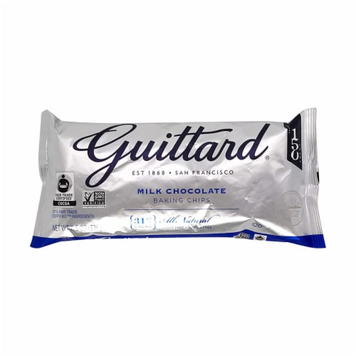 Guittard Baking Chips, Milk Chocolate, 11.5 oz (Pack of 1) Perspective: front