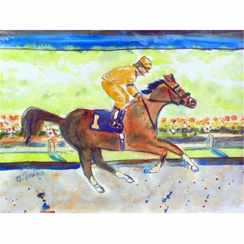 Betsy Drake PM055B Racing Horse Gold Place Mat - Set of 4 Perspective: front