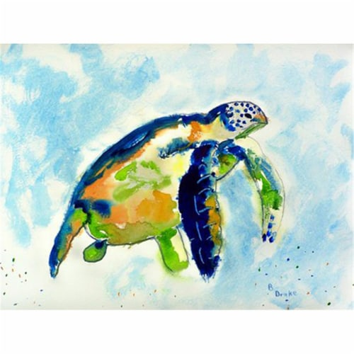 Betsy Drake PM134 Blue Sea Turtle Place Mat - Set of 4 Perspective: front