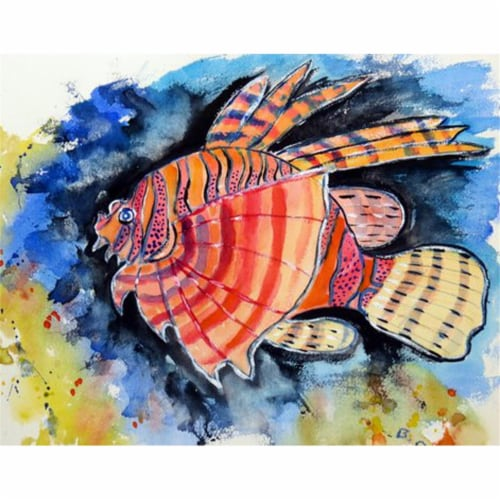 Betsy Drake PM397 Betsys Lion Fish Place Mat - Set of 4 Perspective: front