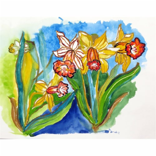 Betsy Drake PM542 Daffodils Place Mat - Set of 4 Perspective: front