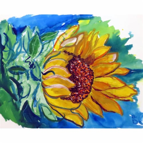 Betsy Drake PM544 Windy Sunflower Place Mat - Set of 4 Perspective: front