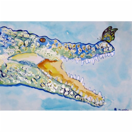 Betsy Drake PM548 Croc & Butterfly Place Mat - Set of 4 Perspective: front