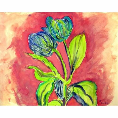 Betsy Drake DM342 18 x 26 in. Tulips in Peach Door Mat Perspective: front