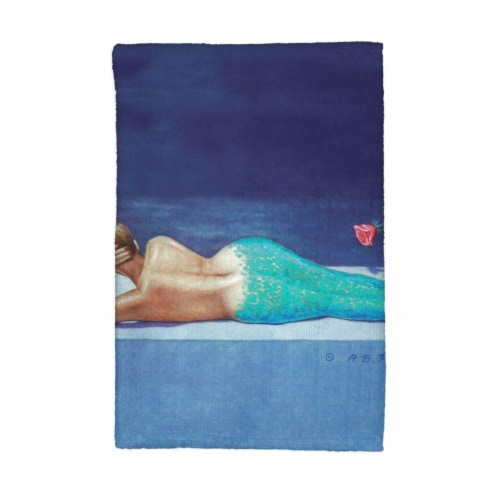 Betsy Drake KT073 Mermaid Kitchen Towel Perspective: front