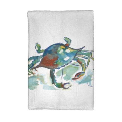 Betsy Drake KT105 Crab Kitchen Towel Perspective: front