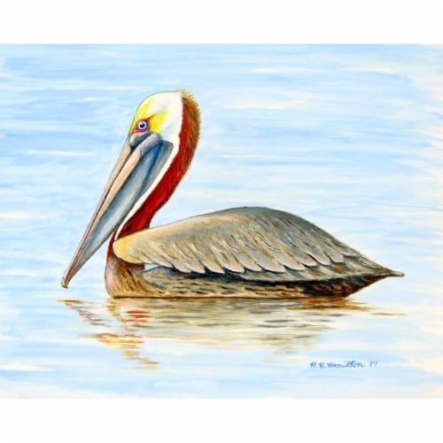 Betsy Drake PM807 Summer Pelican Place Mat - Set of 4 Perspective: front