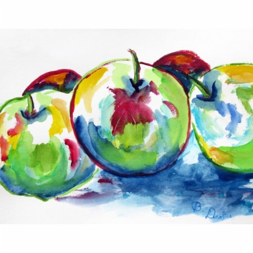 Betsy Drake PM818 Three Apples Place Mat - Set of 4 Perspective: front